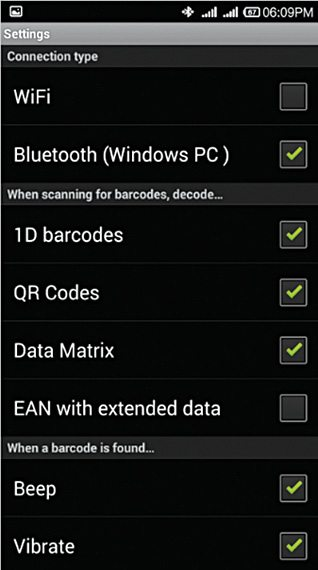 Android Smartphone as QR/Barcode Scanner | Software