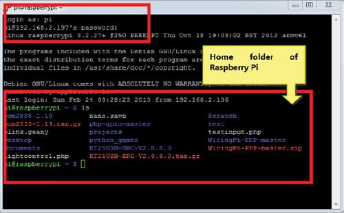 Fig. 8: Successful remote access to Raspberry Pi