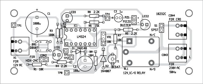 Fig. 5: Component layout of the PCB