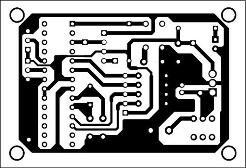 Fig. 8: Actual-size PCB of RF remote module