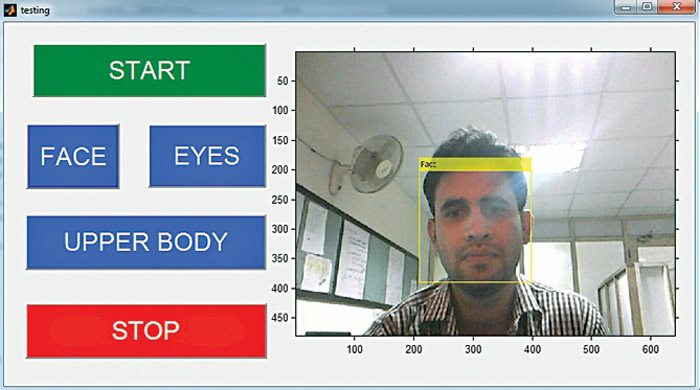 Face detection using matlab