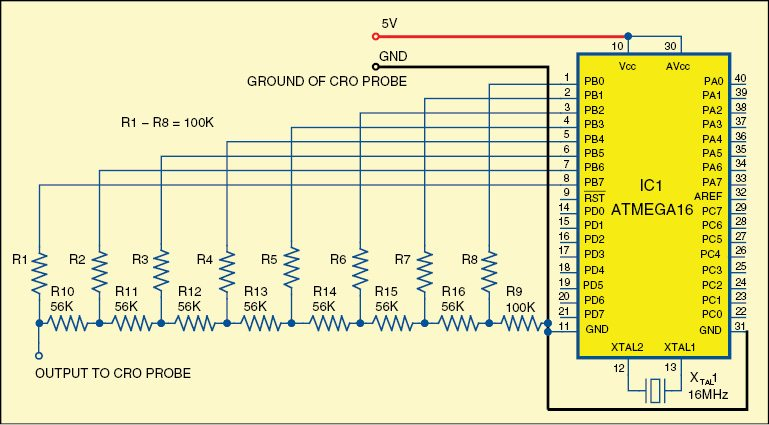 Fig. 2: Circuit for oscilloscope as image viewer