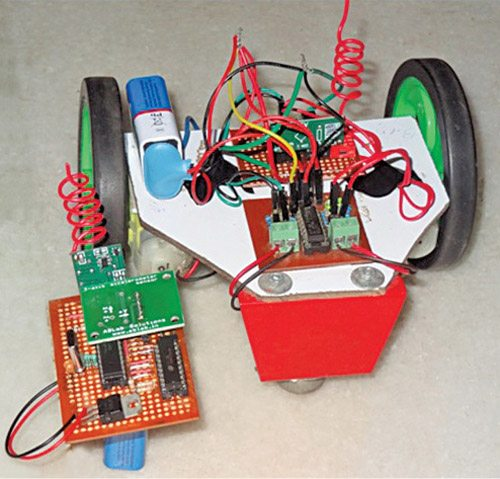 Wireless gesture controlled robot