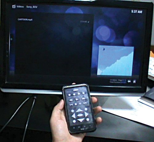 Fig. 1: Home media centre with Raspberry Pi