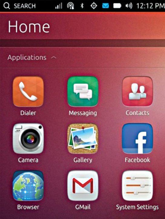 Fig. 13: Ubuntu Touch Home screen