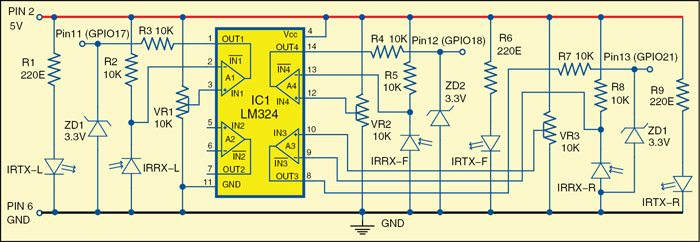 Fig. 2: Circuit diagram of the sensor section