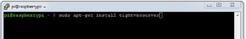 Fig. 11: Install tightvncserver using ssh terminal session on Raspberry Pi