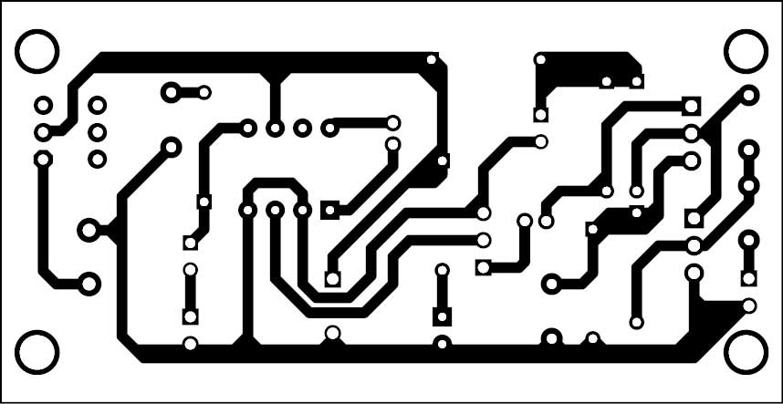 Fig. 4: Actual-size PCB of Faraday's guitar