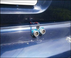 Car Reversing Audio Visual Alarm | Circuit Diagram with