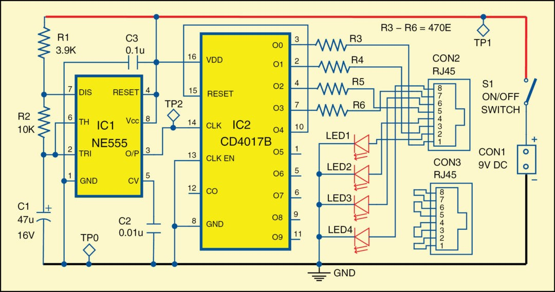 T1 Circuit Extension in addition Ac Generator Diagram And Explanation in addition Wiring Diagram Gfci Receptacle Tester further 2002 Dodge Caravan Se Fuse Box Diagram in addition Water Level Alarm Using 555 Timer. on continuity tester circuit diagram