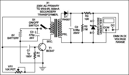 automatic battery charger circuit diagram simple wireless Capacitance Tester Circuit Schottky Diode Circuit