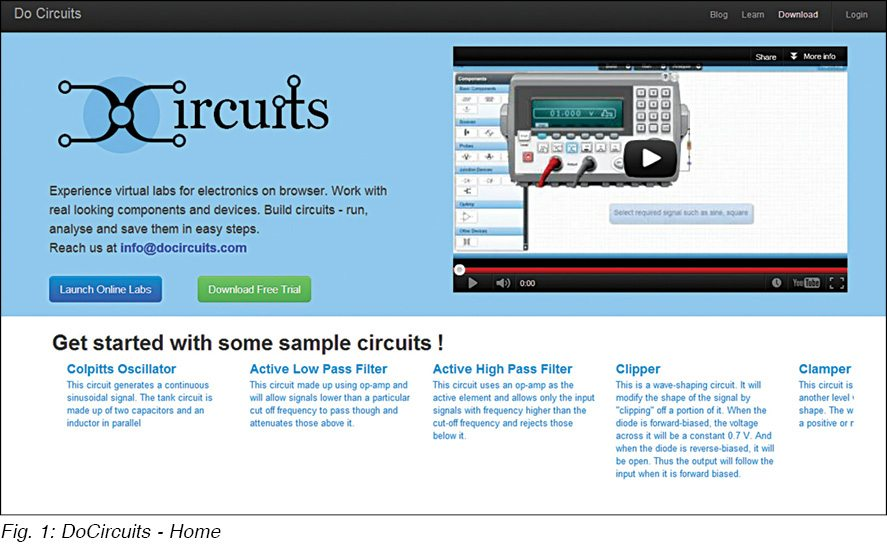 DoCircuits Circuit Simulator | Electronics For You