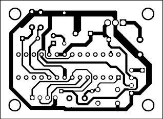 Fig. 3: Actual-size PCB pattern of the transmitter unit