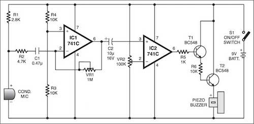 Sound Scanner | Detailed Circuit Diagram Available