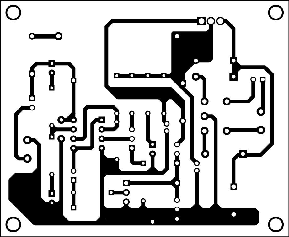 Fig. 2: Actual-size PCB of the charger