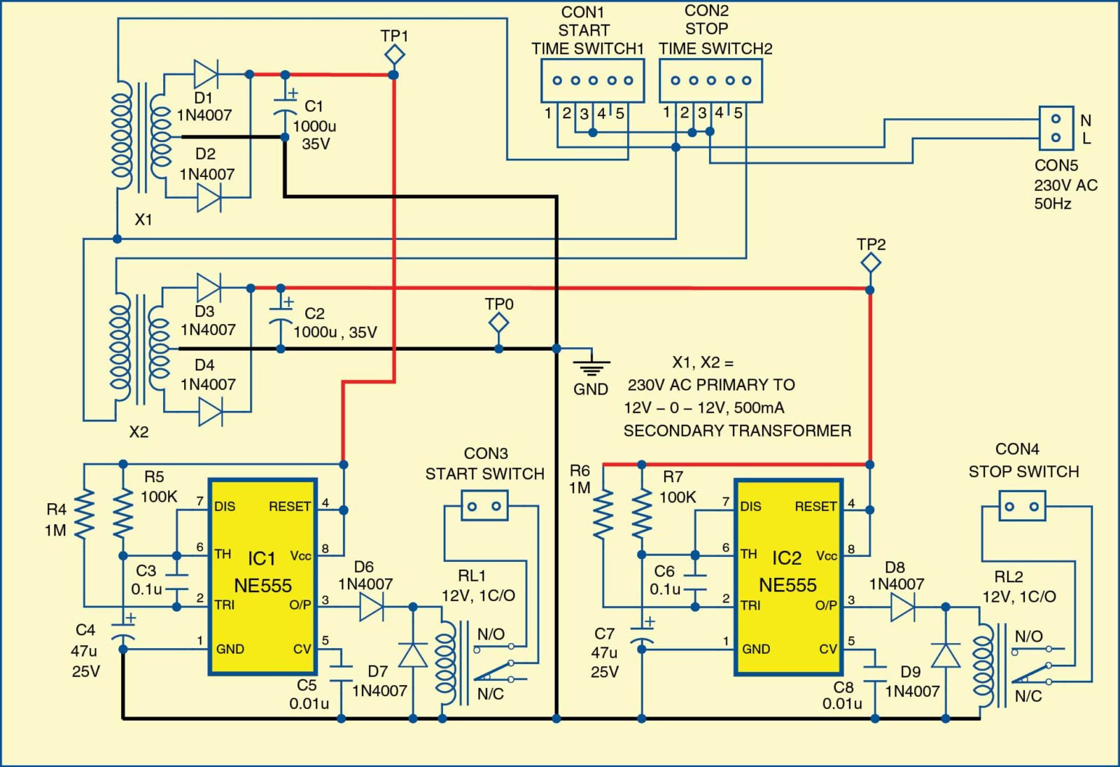 WRG-9829] 3 Phase Auto Starter Wiring Diagram on