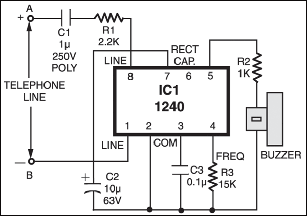Fig2.Circuit diagram of external ringer
