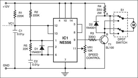 PWM Based Speed Control Circuit
