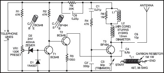 phone broadcaster full project with circuit diagram rh electronicsforu com Parallel Circuit Diagram Series Circuit Diagram