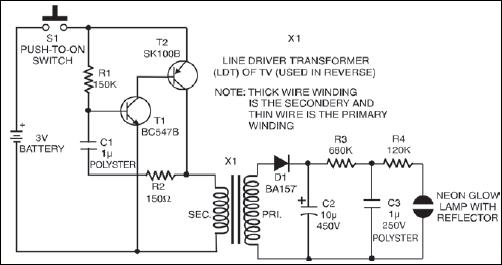 miniature strobe light detailed circuit diagram available rh electronicsforu com adjustable strobe light circuit diagram adjustable strobe light circuit diagram