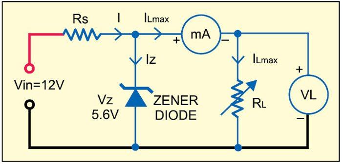 Fig. 1: Zener as voltage regulator