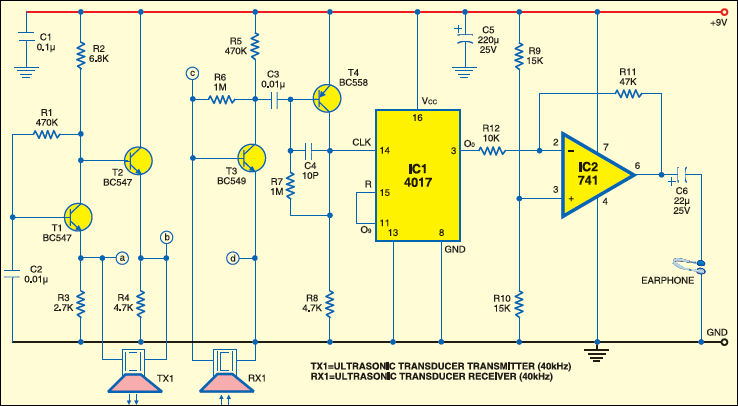 Ultrasonic Proximity Detector Electronics For You