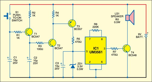 Panic Alarm Project | Detailed Circuit Diagram Available