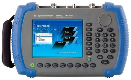 N9344C handheld spectrum analyser by Agilent Technologies