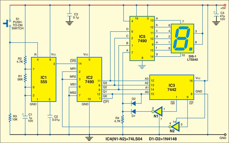 Electronic Ludo | Detailed Circuit Diagram Available