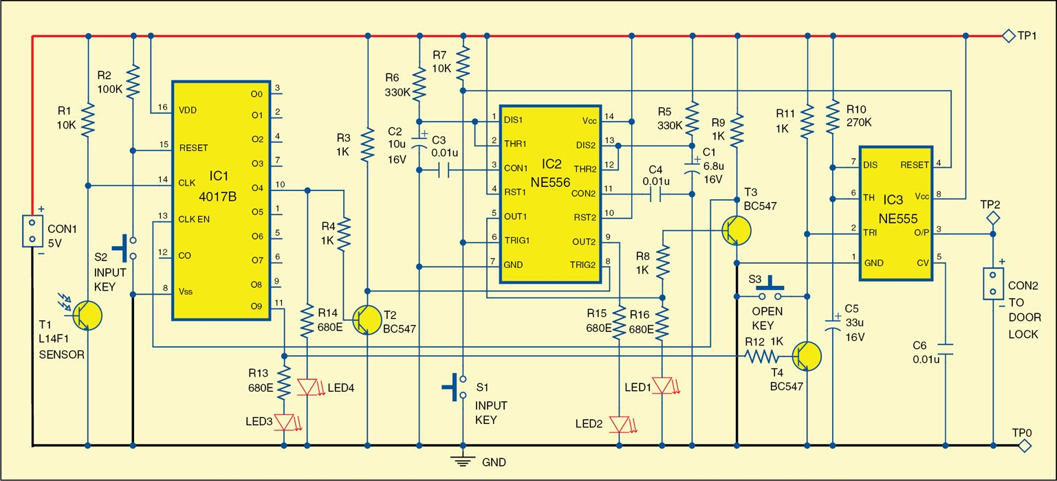 Laser Based Security Lock Electronics For You Multi Zone Transistor Alarm Circuit Schemati Diagram 2 Of The