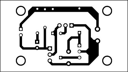 Fig. 2: Actual-size PCB of the door-opening alarm