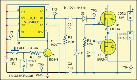 Fig. 1: Circuit of semiconductor relay for automotive applications