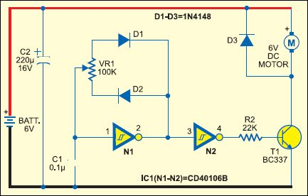 Fig 2 : DC Motor speed control using PWM method