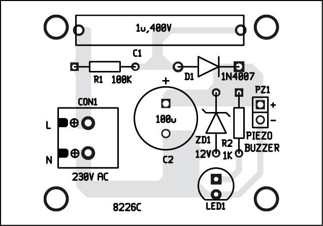 Fig. 3: Component layout of the indicator