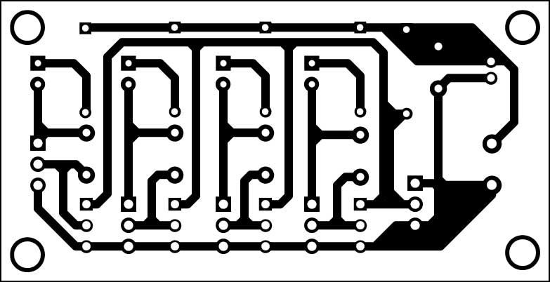 Fig. 2: Actual-size PCB of the thermometer