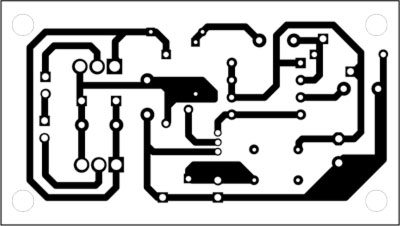 Fig. 2: An actual-size, single-side PCB for the semiconductor relay for automotive applications