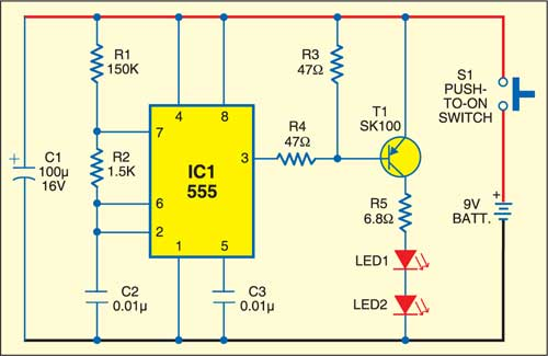 Optical Remote Switch Detailed Circuit Diagram Available