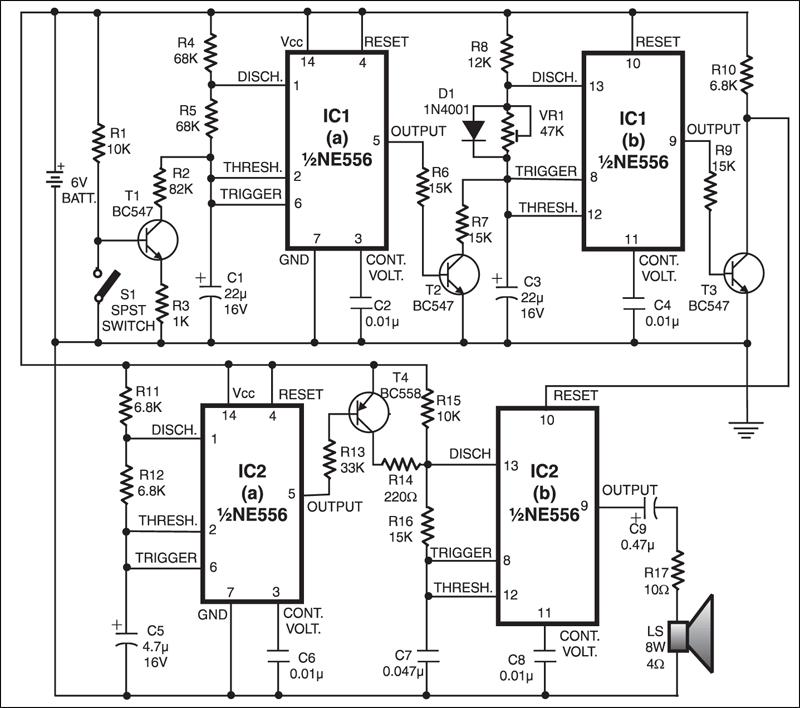 telephone ringer circuit diagram
