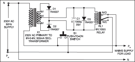 circuit diagram for protecting electrical appliances