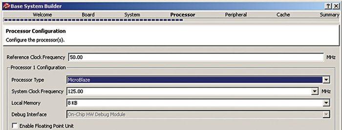 Fig. 6: Processor configuration