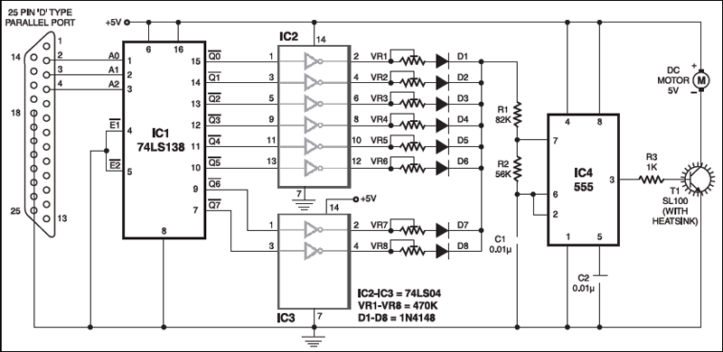pc based dc motor speed controller