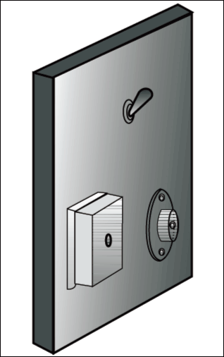 Fig 3. Mounting details of DPDT switch , RINGER and telephone terminal box