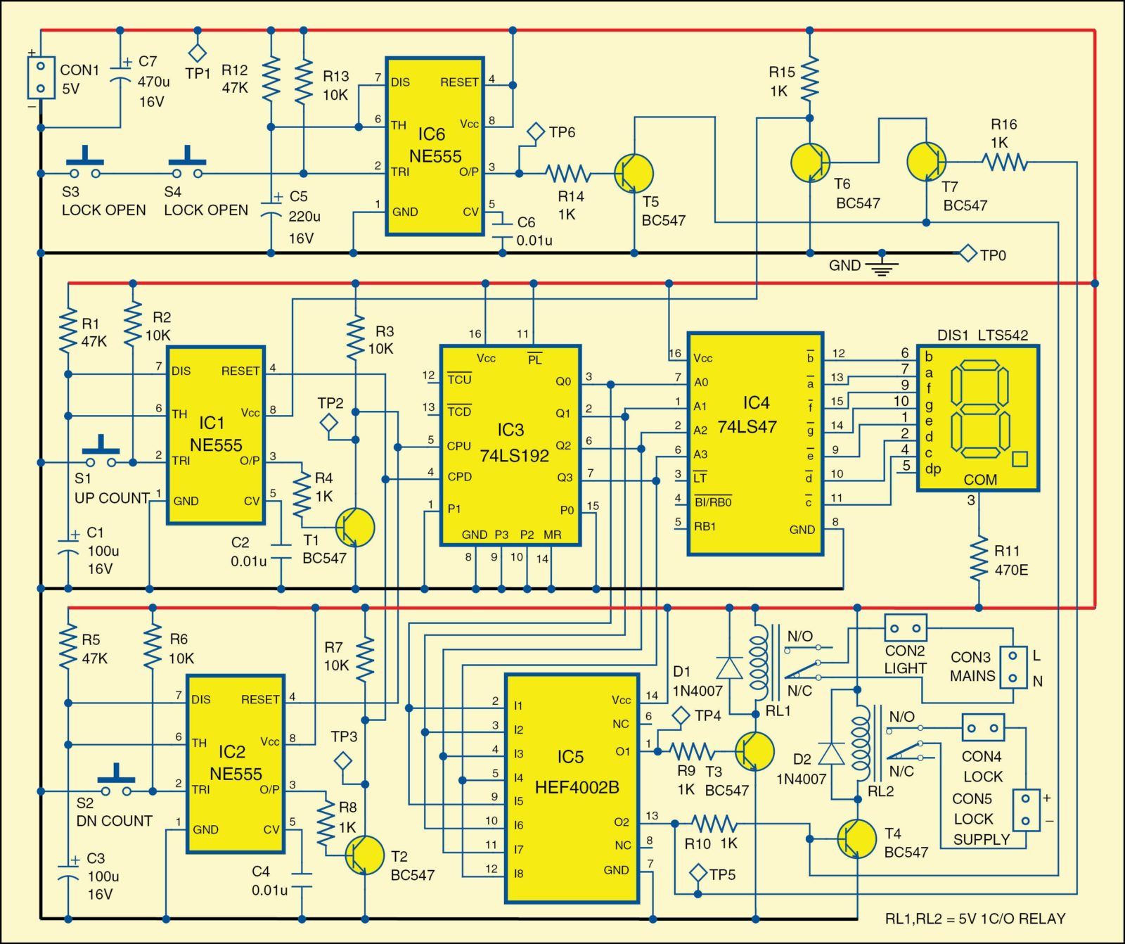 Automatic Room Lock And Lights Circuit Electronics For You Automotive Circuits Projects 17 1 Diagram Of The 4e6 Fig 2