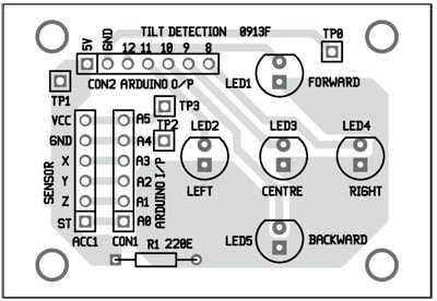 Fig. 5: Component layout for the PCB