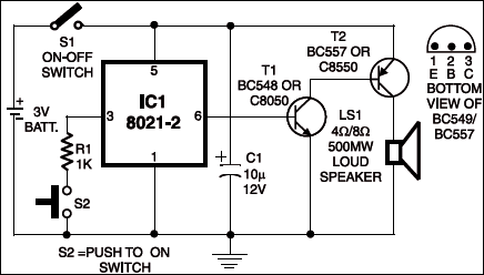 ding dong door bell detailed circuit diagram available rh electronicsforu com