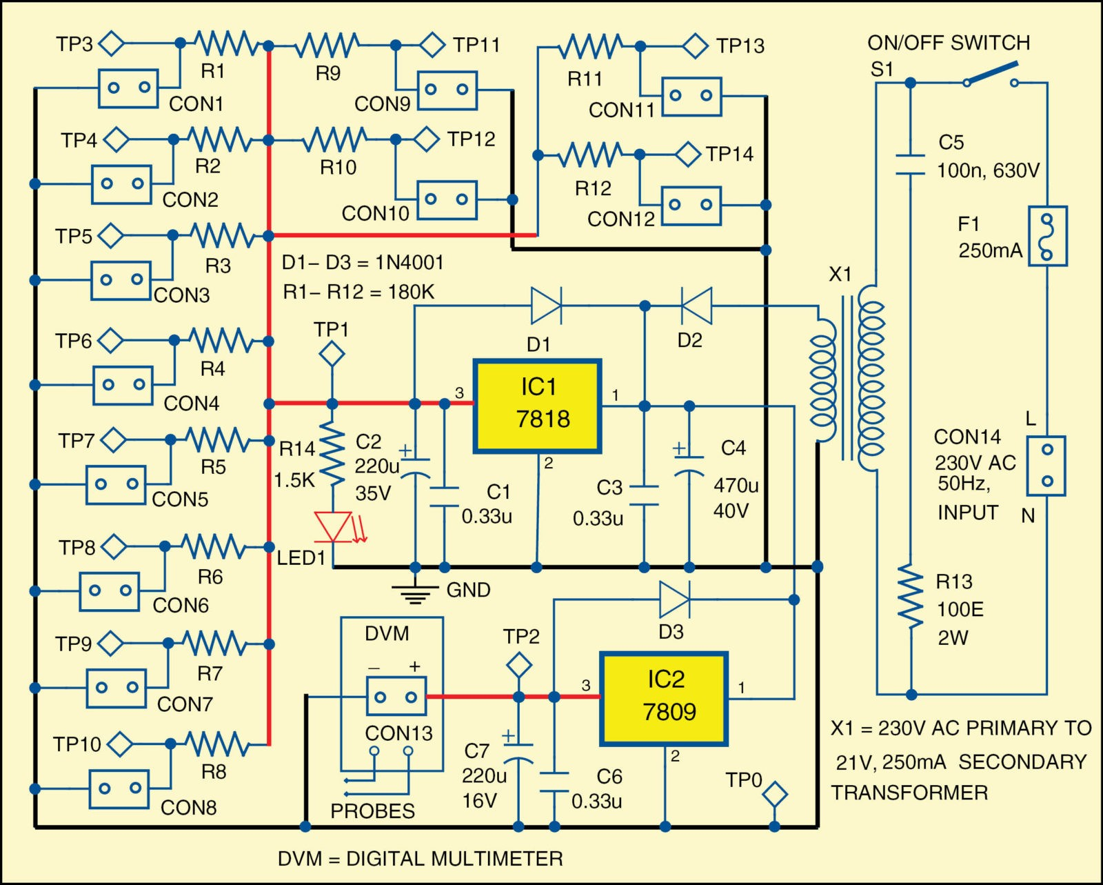 Fig. 1: Circuit diagram of the device