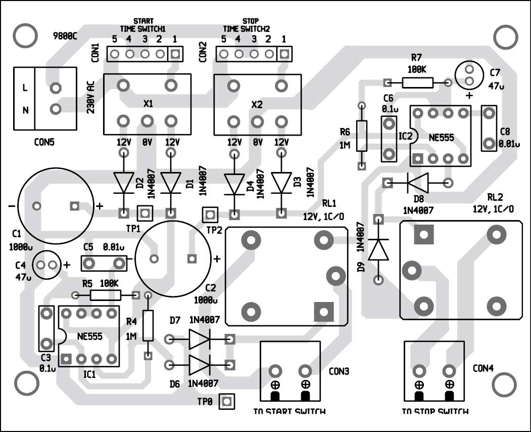 3 Phase Motor Programmable Controller Full Electronics Project Telephone Record Control Circuit Diagram All About Wiring 7 Component Layout Of The Pcb