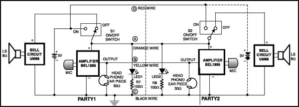 Super Simple Intercom Circuit Detailed Circuit Diagram Available Wiring 101 Cranwise Assnl