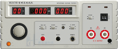 Withstand voltage tester
