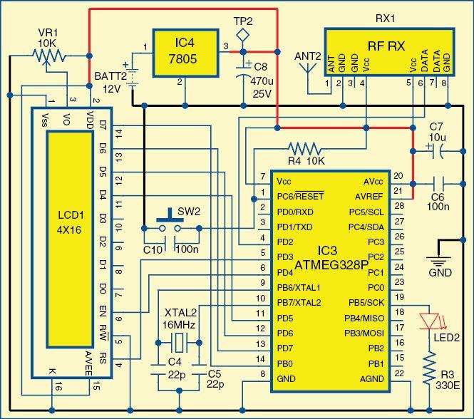 Fig. 2: Circuit diagram of the receiver unit